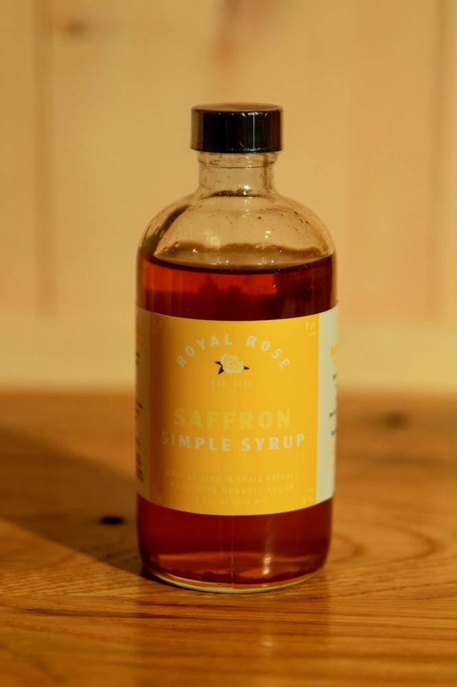Royal Rose - Saffron Simple Syrup