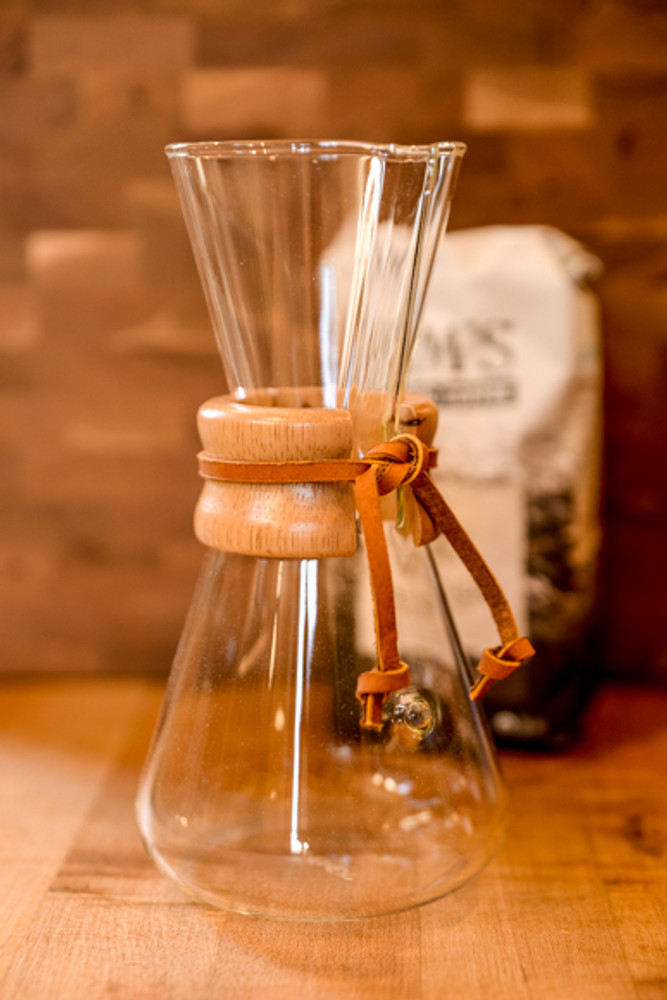 Chemex - 3 Cup Pour Over Coffee Maker W/ Wood Collar