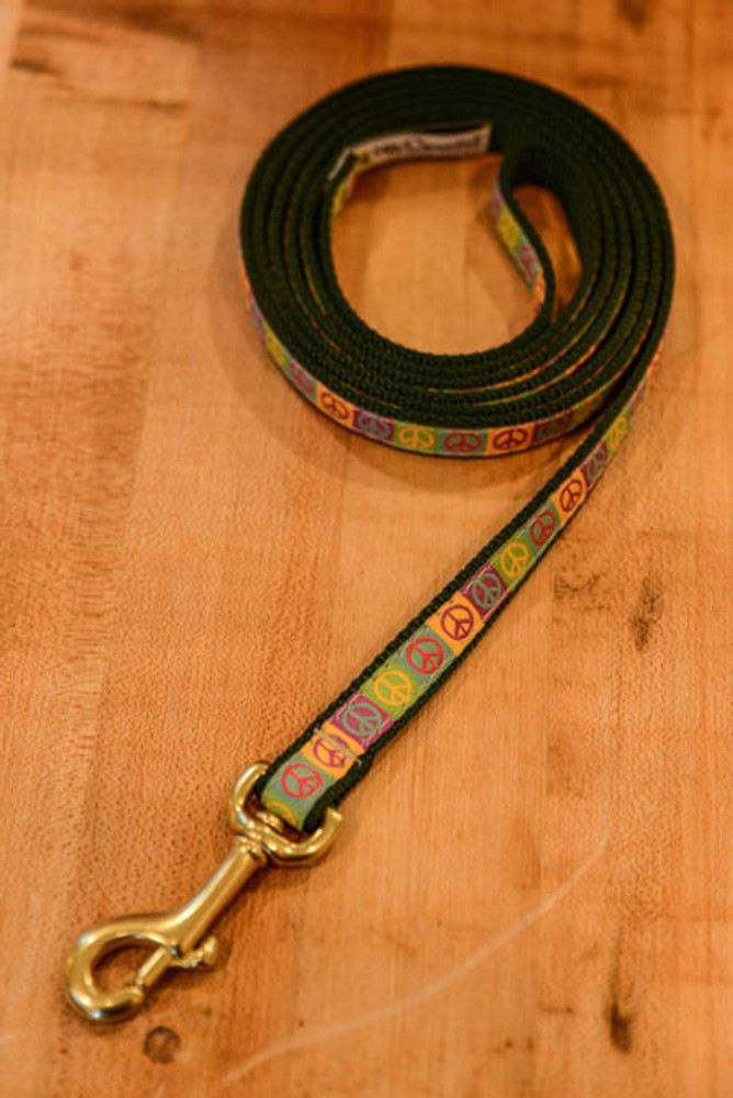 Up Country - Peace 6 Foot Dog Leash