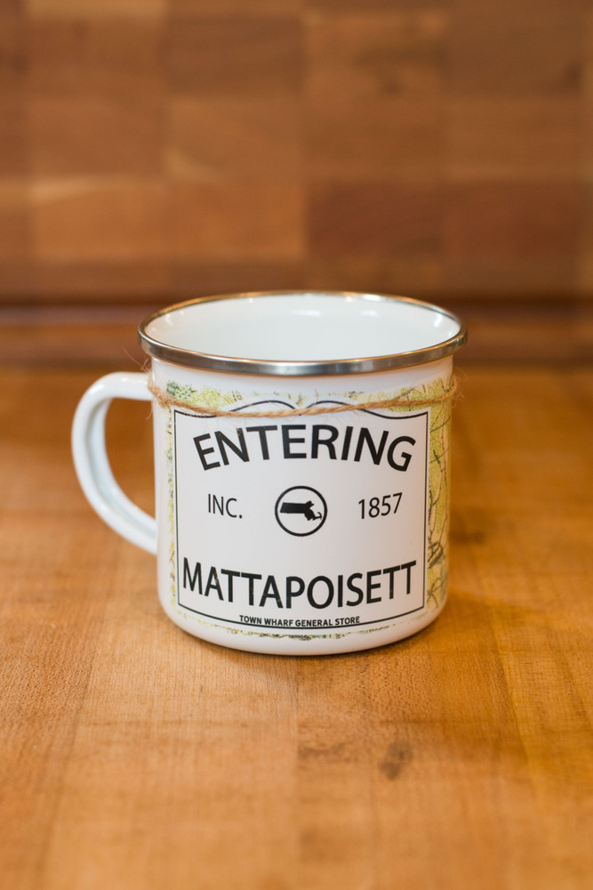 Entering Mattapoisett Camp Mug