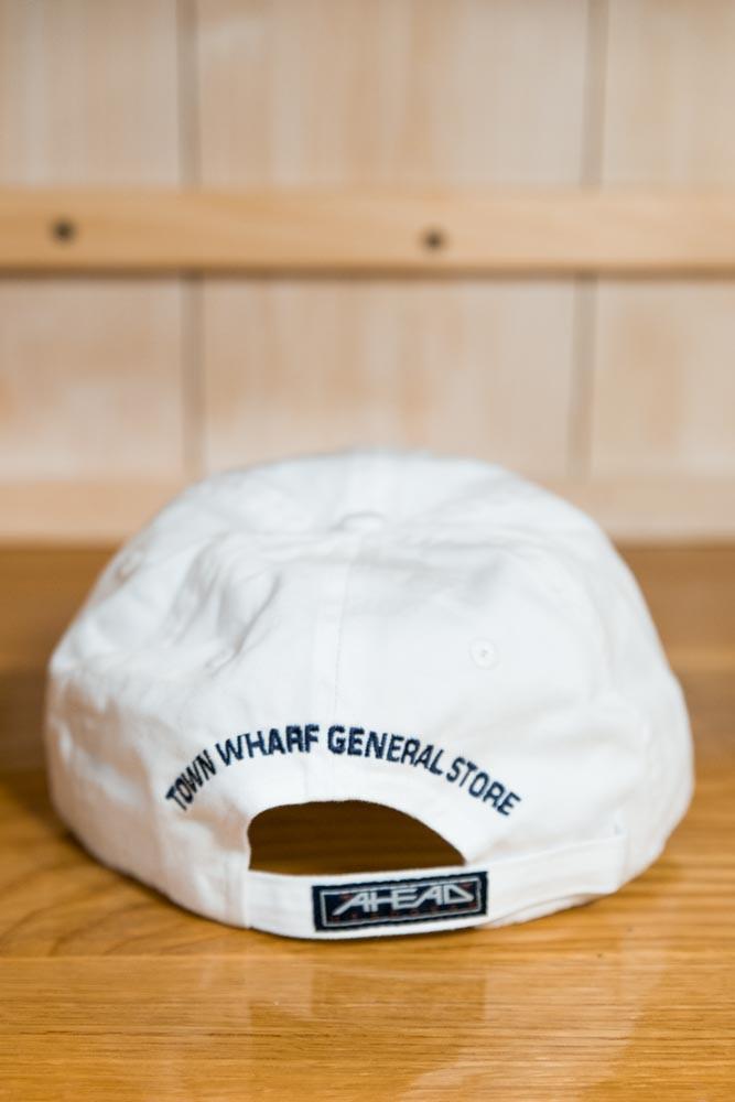 Mattapoisett & Whale Logo Baseball Hat - White