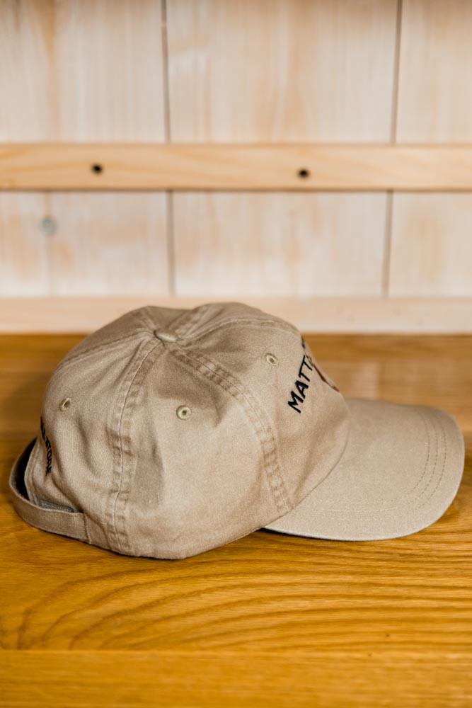 Mattapoisett & Red Seahorse Logo Baseball Hat - Khaki