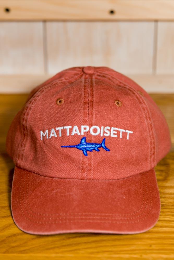 Mattapoisett & Swordfish Logo Baseball Hat - Nantucket Red