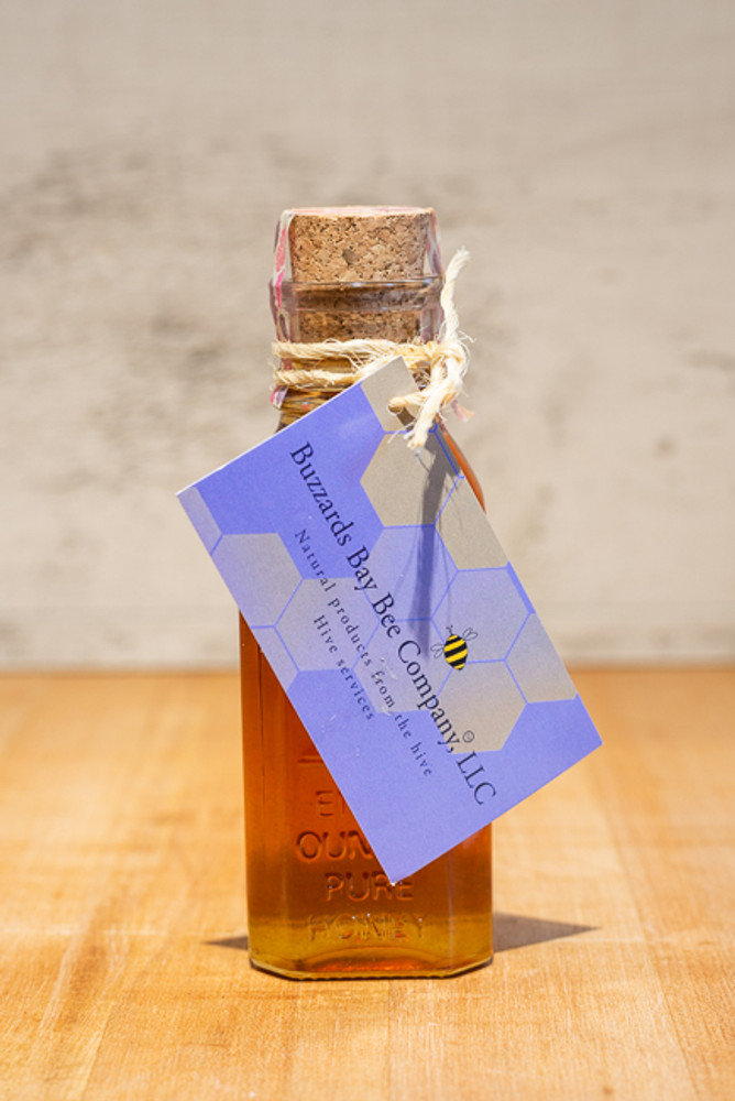 Buzzards Bay Bee Co. - Medium Apothecary Bottle of Pure Honey - 8 oz
