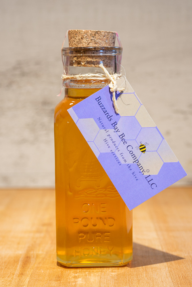 Buzzards Bay Bee Co. - Large Apothecary Bottle of Pure Honey - 12oz