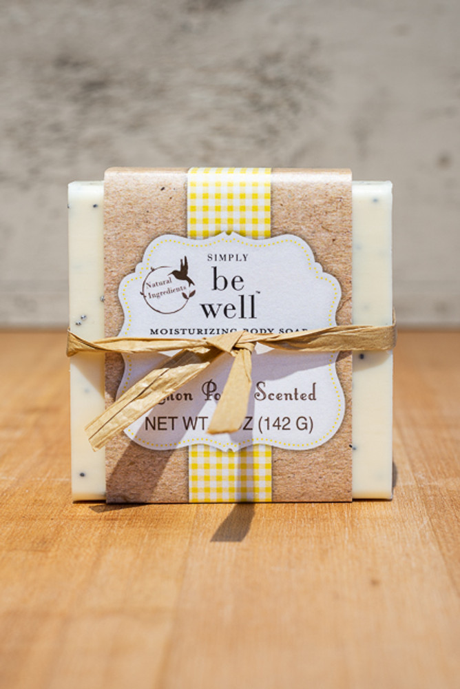 Simply Be Well - Lemon Poppy Scented Soap