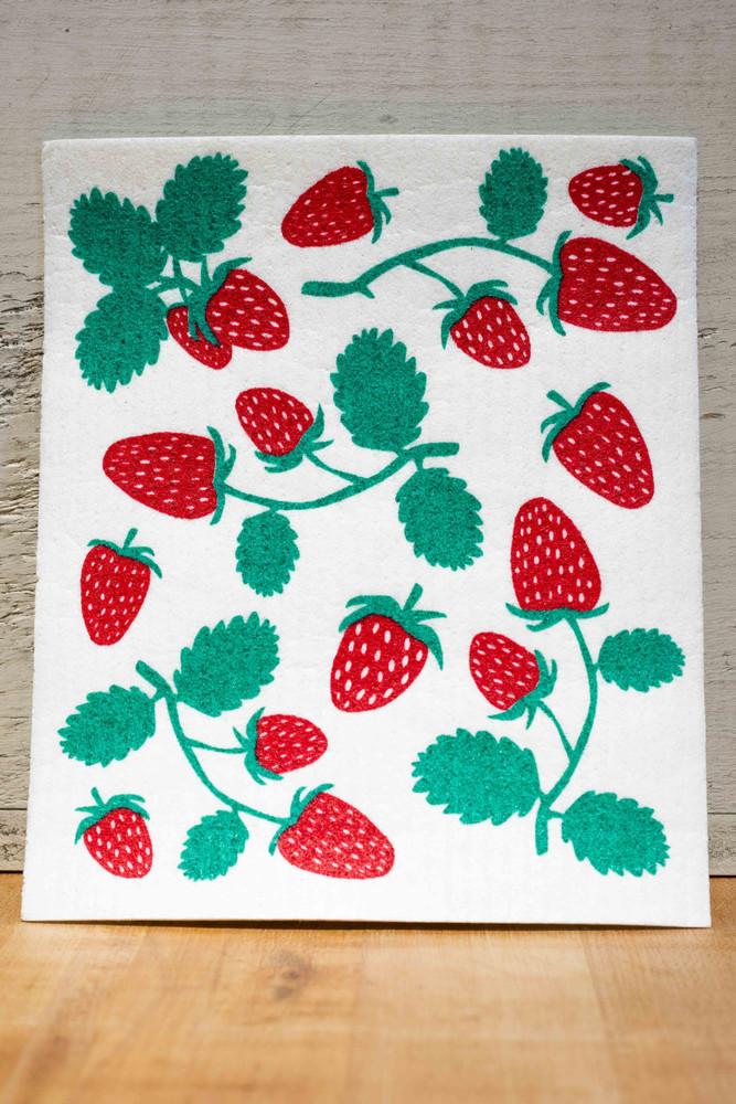 Sweetgum - Strawberry Swedish Dishcloth