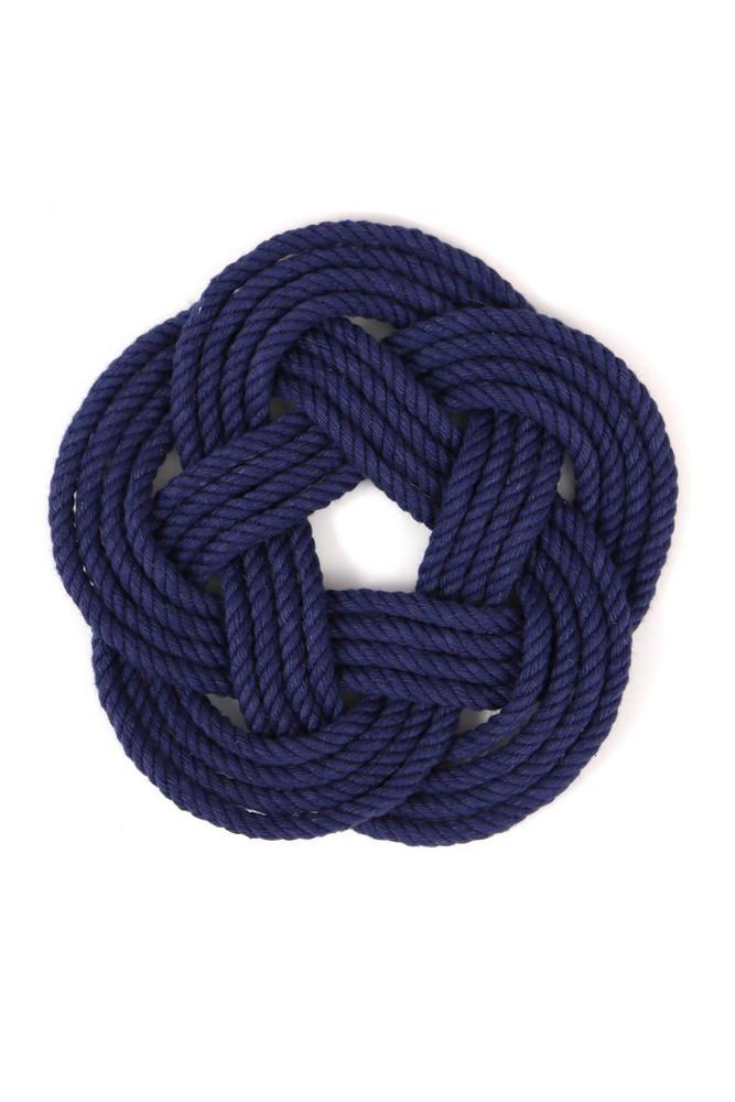 Mystic KnotWorks - Navy Blue Sailor Knot Coasters (Set of 4)