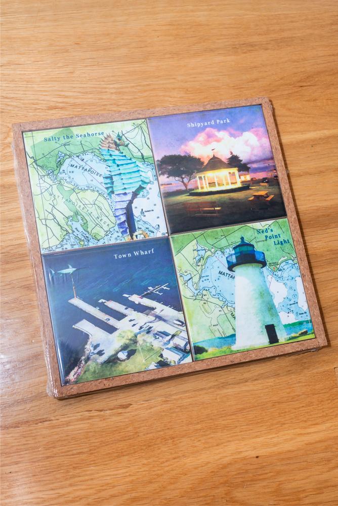 Mattapoisett Coaster Trivet Gift Set