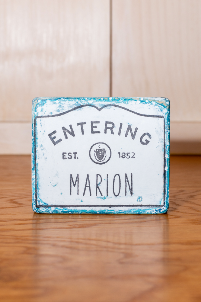 Mini Marion Shelf Sign