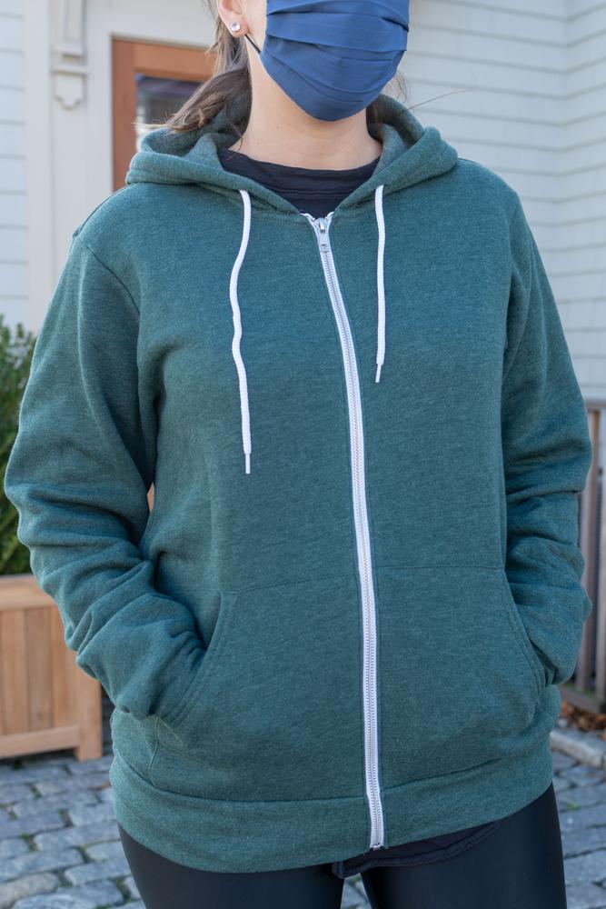 South Coast Massachusetts Zip-Up Hoodie Sweatshirt