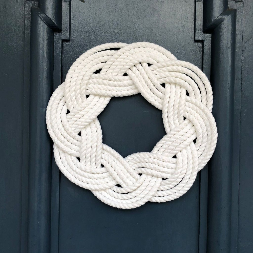 Mystic Knotworks - White Nautical Rope Wreath