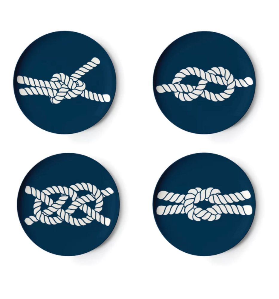 Thomas Paul - Nautical Knot Scrimshaw Coaster (Set of 4)