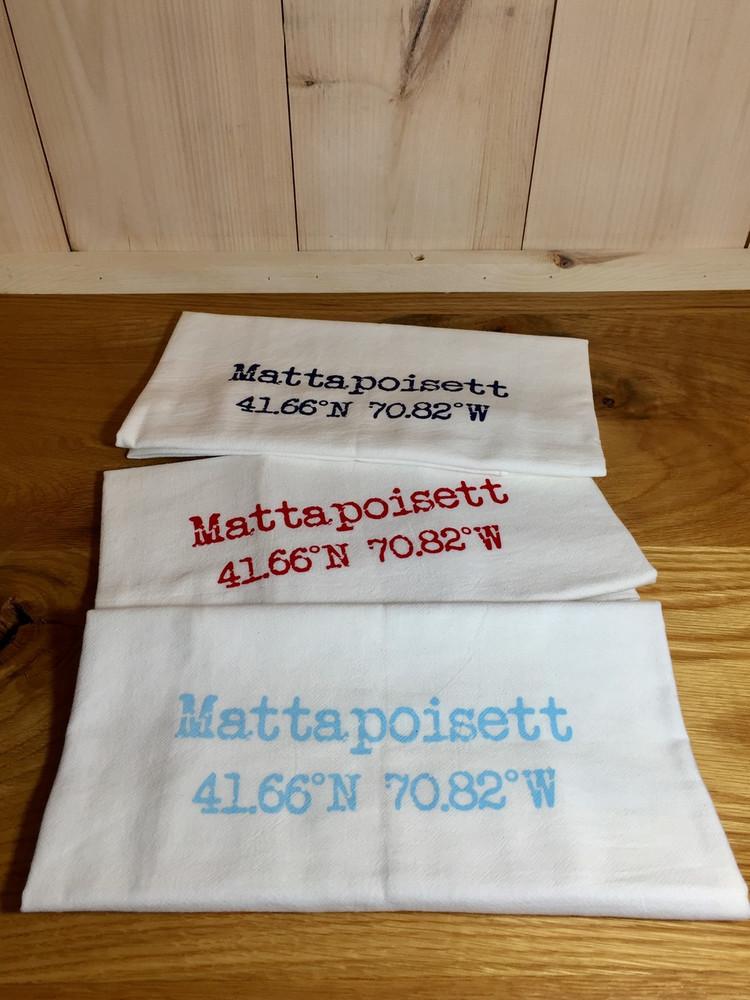 Mattapoisett Coordinates Dish Cloth - Aqua Blue
