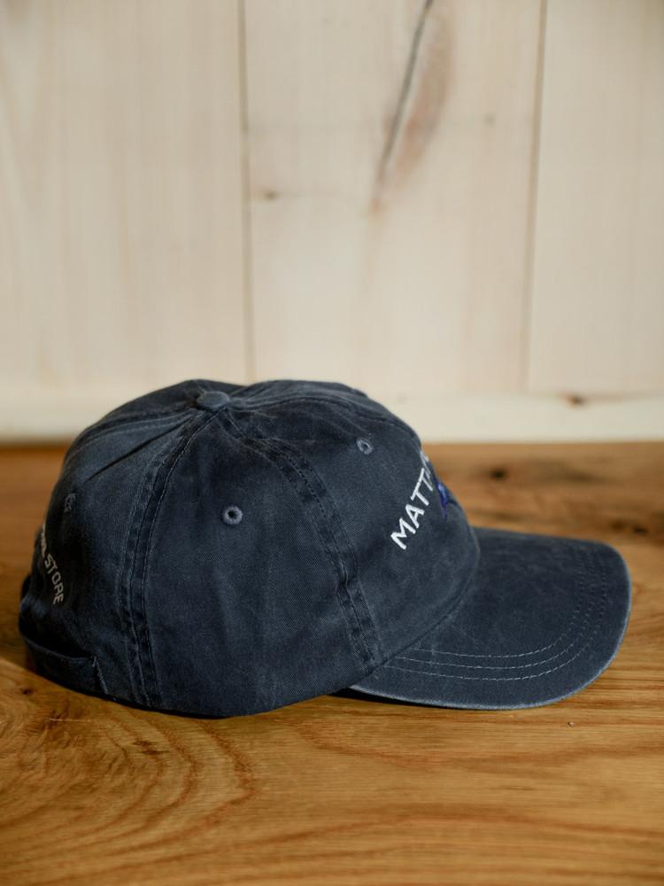 Mattapoisett & Swordfish Logo Baseball Hat - Navy