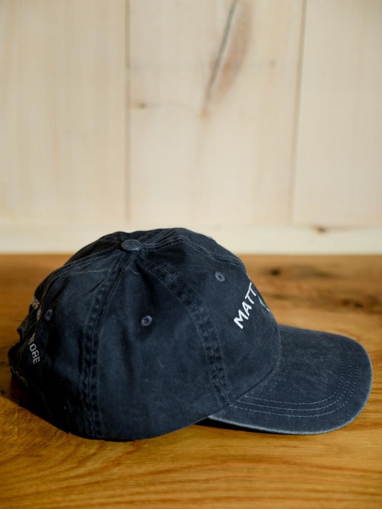 Mattapoisett & Seahorse Logo Baseball Hat - Distressed Navy