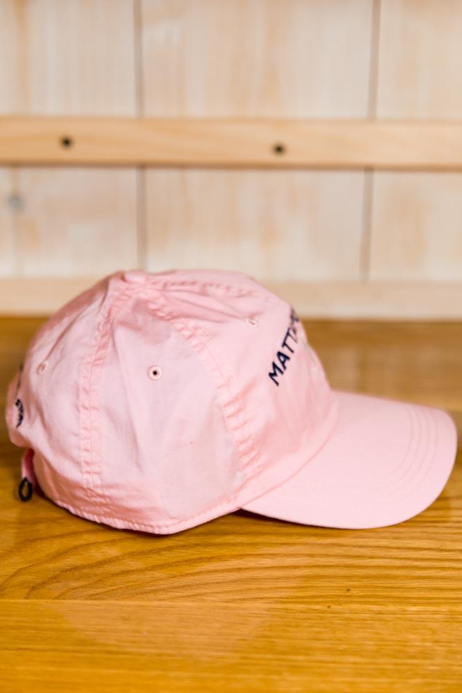 Mattapoisett & Seahorse Logo Baseball Hat - Pink