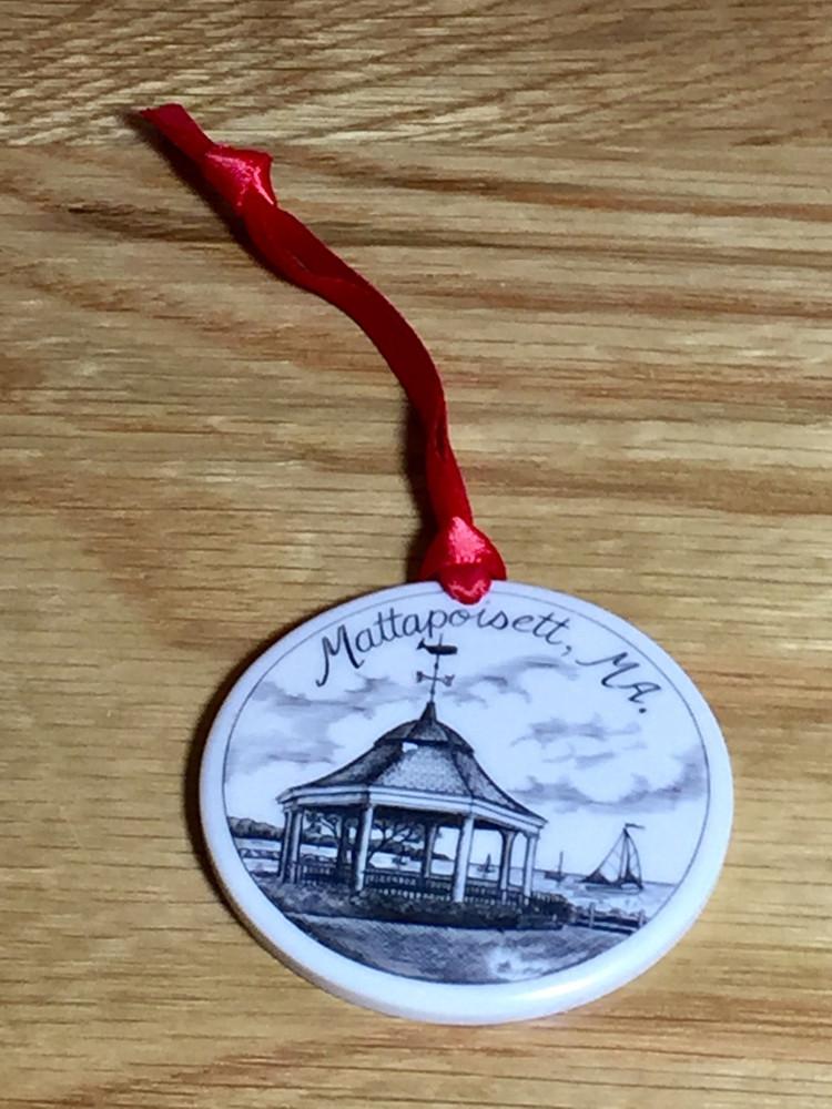 Mattapoisett Christmas Ornament - Shipyard Park Gazebo