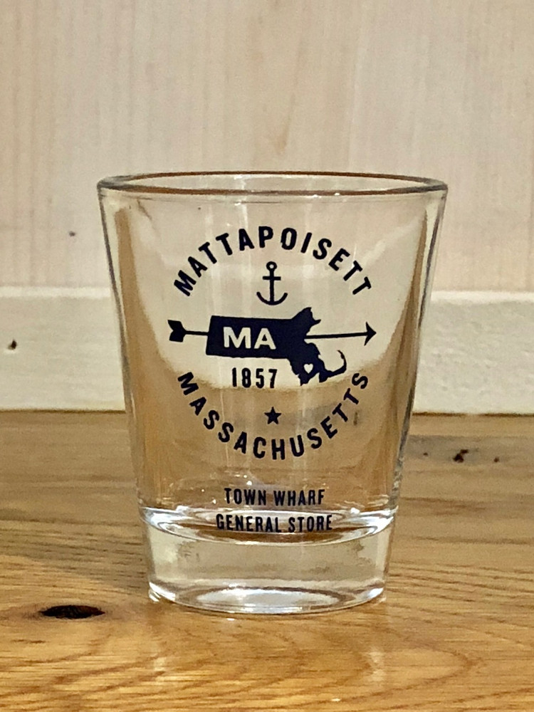 Mattapoisett Shot Glass - MA State Map Design