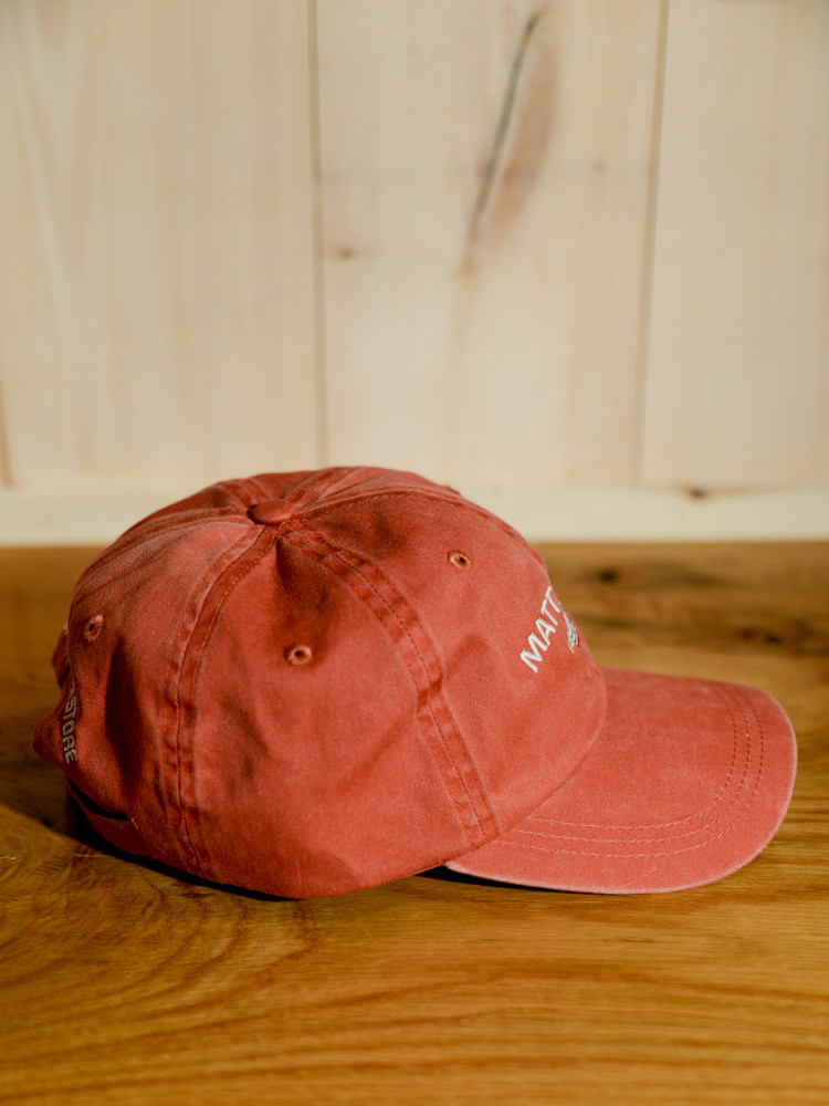 Mattapoisett & American Flag Logo Baseball Hat - Red