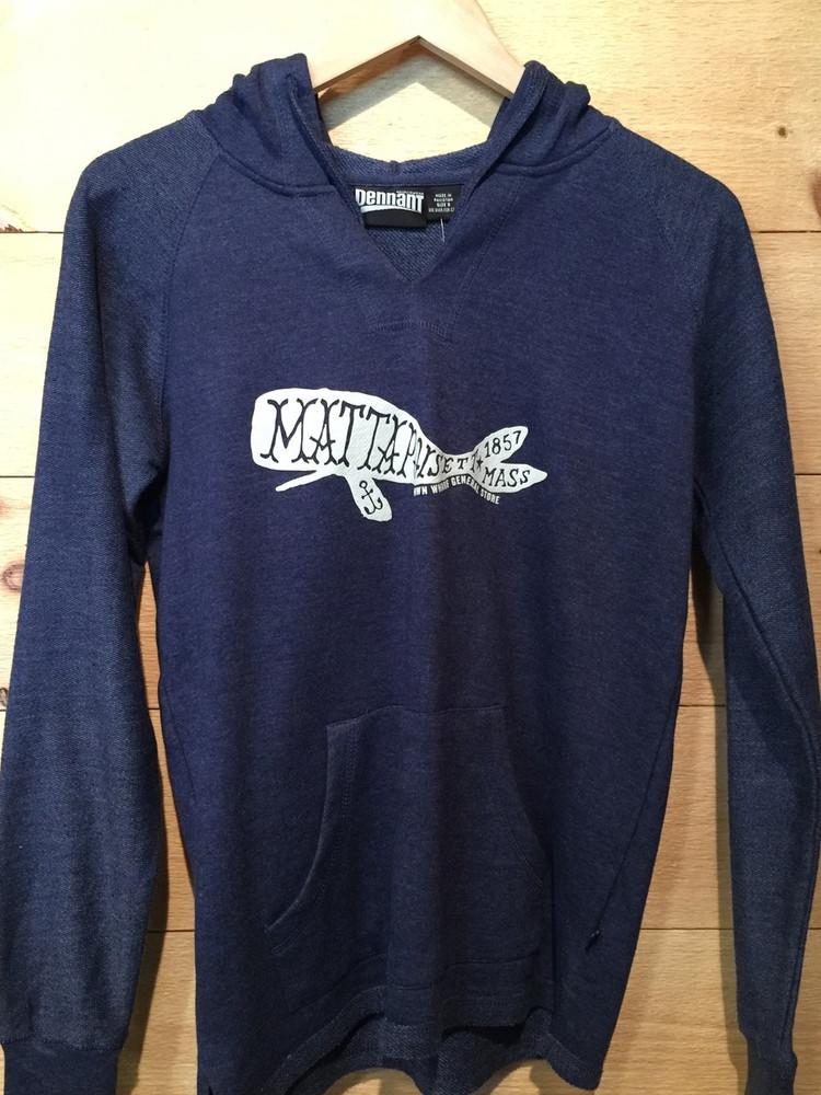 Mattapoisett Whale Women's Cut Pullover Hoodie Sweatshirt
