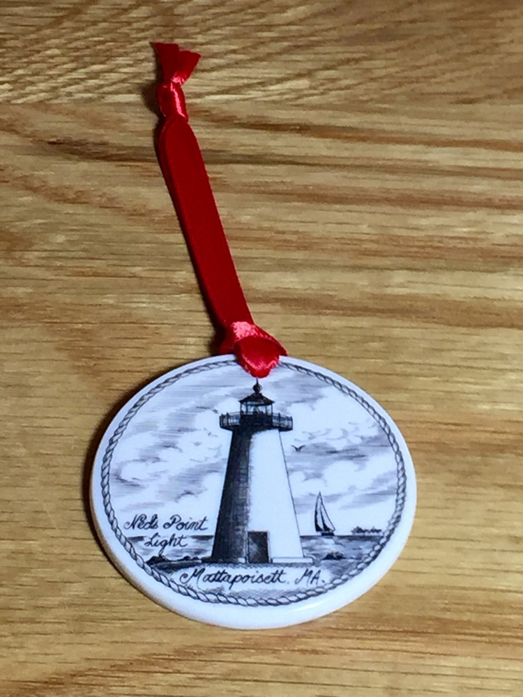Mattapoisett Christmas Ornament - Ned's Point Lighthouse