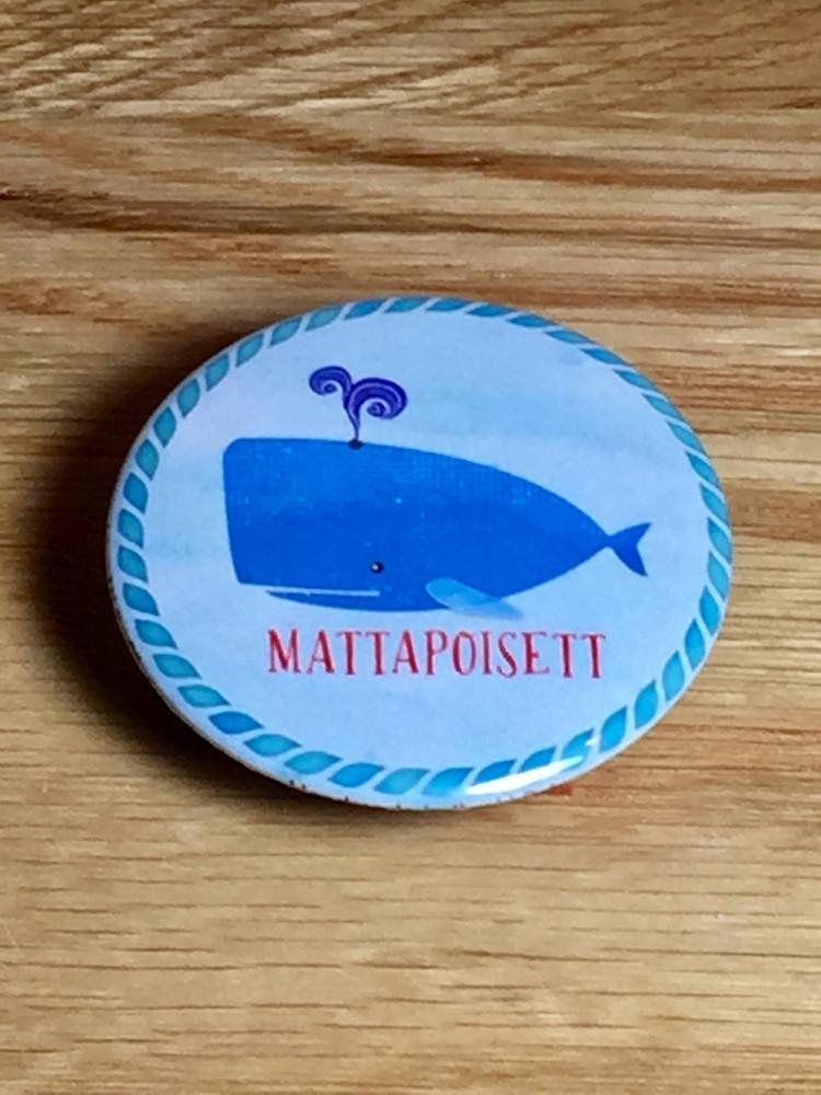 Mattapoisett Blue Whale Magnet