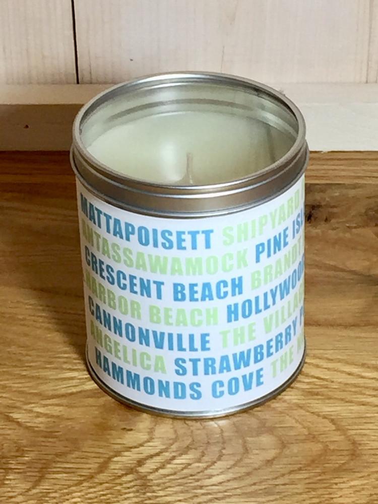 Mattapoisett Villages Candle - Light Blue & Green