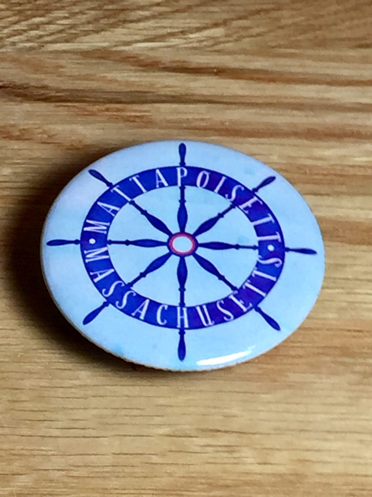 Mattapoisett Ship Wheel Magnet