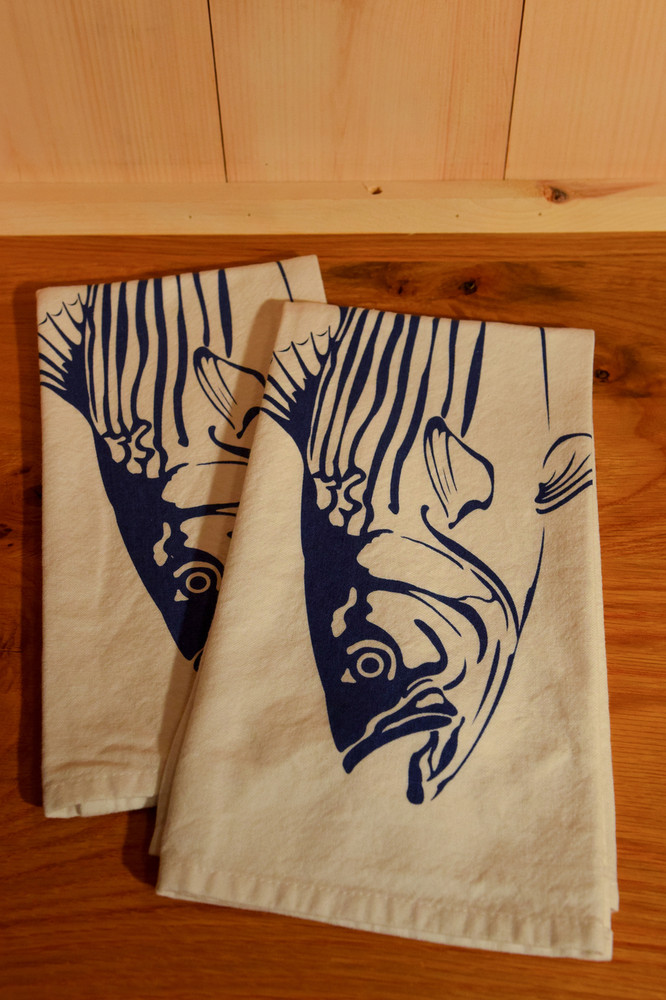 Willywaw - Striped Bass Tea Towel