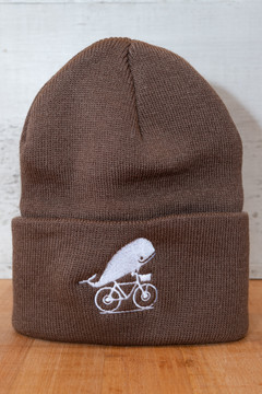 TWGS Embroidered Whale-On-The-Bike Logo Winter Hat