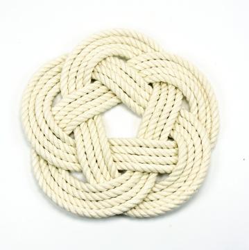 "Mystic Knotworks - 7"" Sailor Knot Trivet"