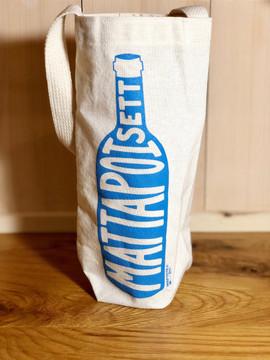 Mattapoisett Map Wine Bottle Tote Bag