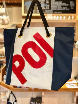"""POI"" Recycled Sail Cloth Port O'Call Sail Tote Bag - Large"