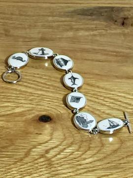 Mattapoisett Scrimshaw-style Story Bracelet