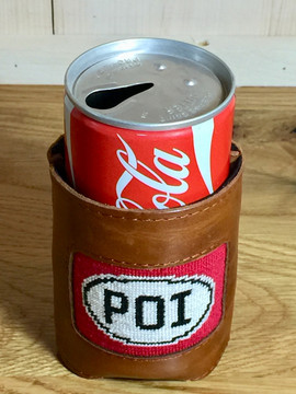 "Leather Can Cooler / Koozie - ""POI"""