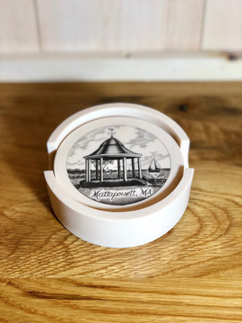 Scrimshaw Coaster Set of 4 - Shipyard Park Gazebo