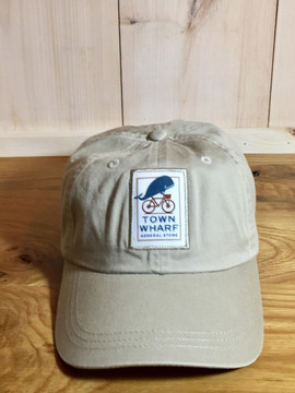 TWGS Logo Patch Baseball Hat - Bone Khaki