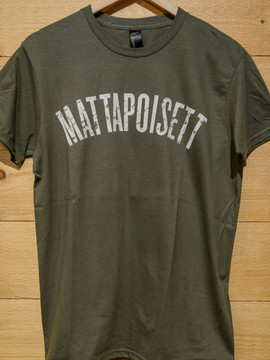 Mattapoisett collegiate shirt army green
