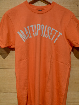 Mattapoisett collegiate shirt vintage orange