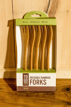 To-Go Ware - Reusable Bamboo Set of 5 Forks