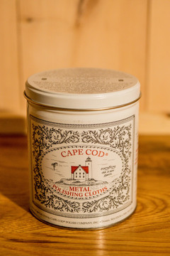 Cape Cod Metal Polishing Cloths - Economy Size Tin