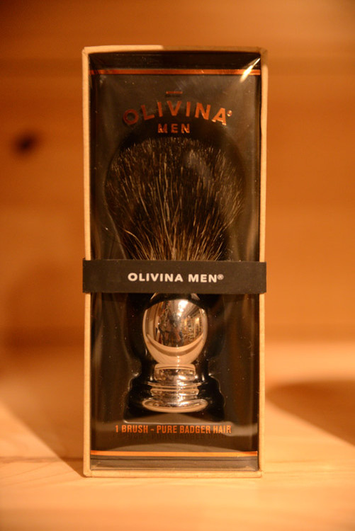 Olivina Men - Badger Hair Shave Brush (Chrome)