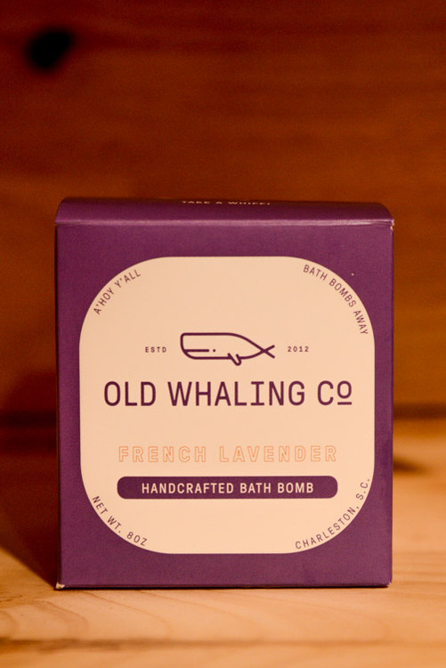 Old Whaling Co.- French Lavender Handcrafted Bath Bomb