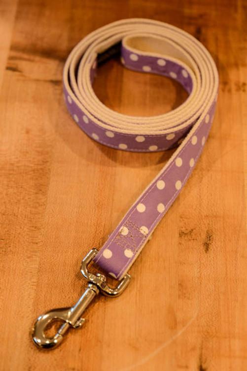 Tartan Hound - Purple Polka Dot 6 Foot Dog Leash