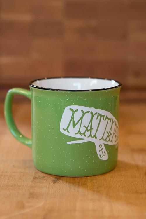 TWGS Mattapoisett Whale Ceramic Cambria Mug (Lime)