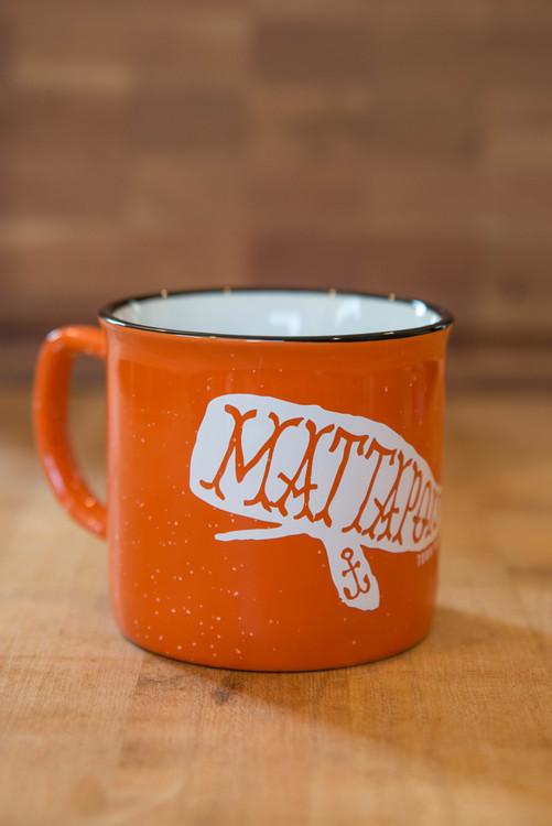 TWGS Mattapoisett Whale Ceramic Cambria Mug (Orange)