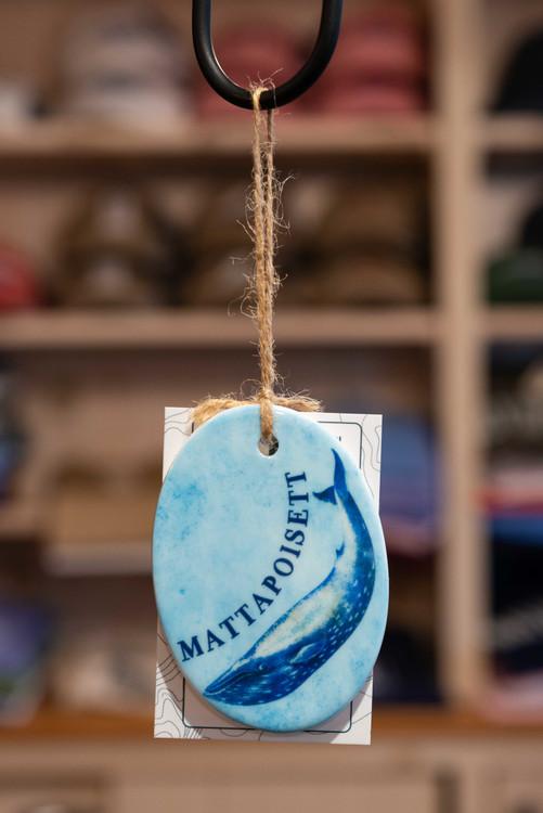 Mattapoisett Christmas Ornament - Mattapoisett Whale