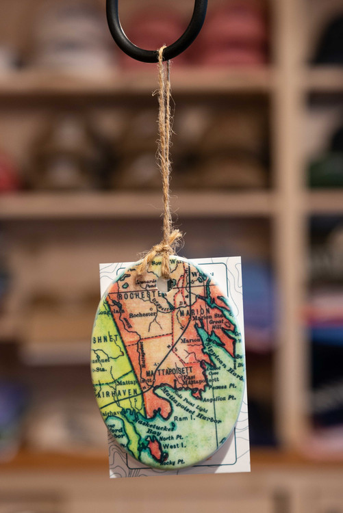 Mattapoisett Christmas Ornament - Mattapoisett Map
