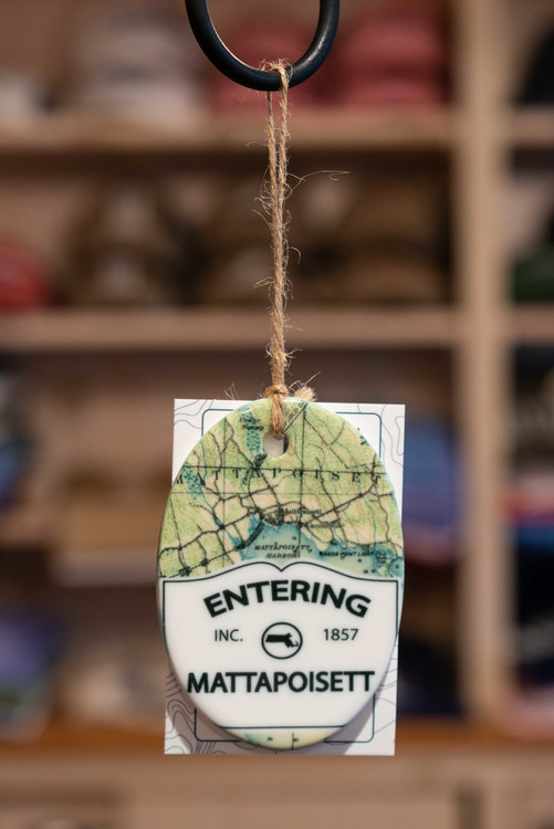 Mattapoisett Christmas Ornament - Entering Mattapoisett Sign